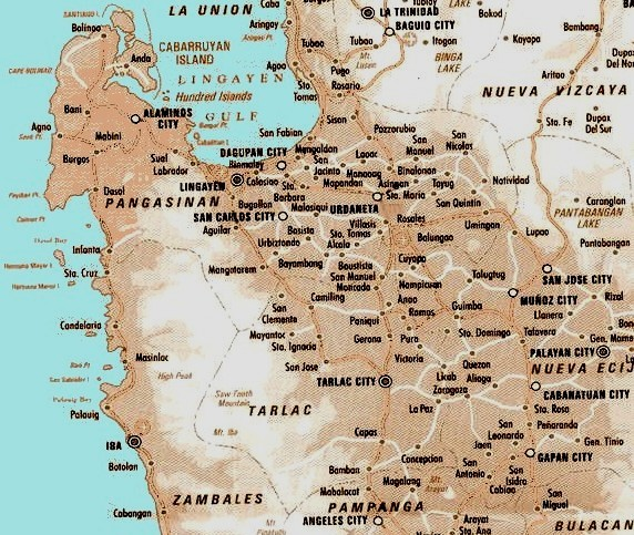 Pangasinan Map images