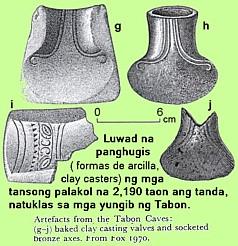 axhead ), tinawag na socketed celt , na may butas na suksukan ng